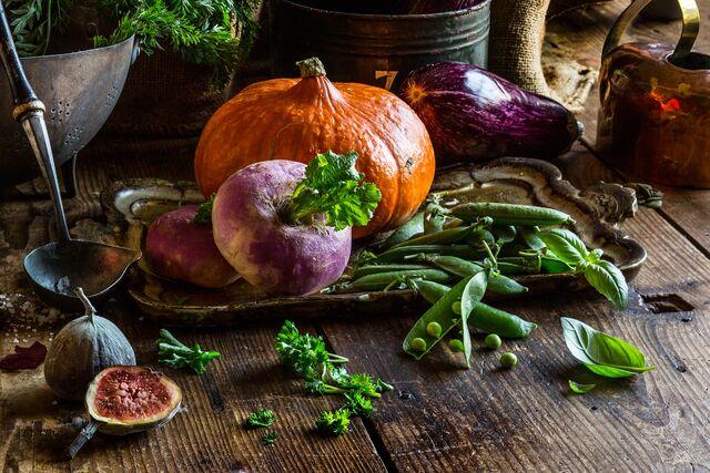 Постановочная композиция из овощей. Фуд-стилист и фотограф Слава Поздняков