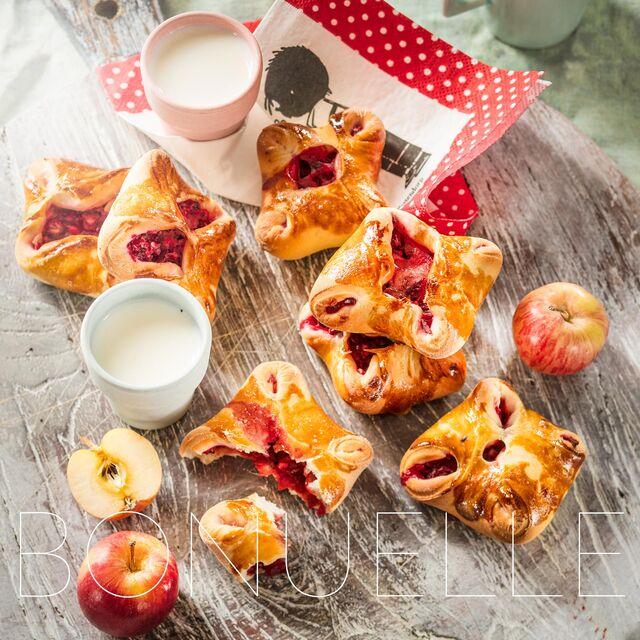 Приготовление и фотосъемка рецептов для Bonduelle. Конвертики с яблоками и свеклой