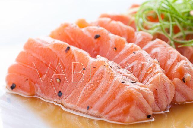 Фотосъемка блюд из лосося для ресторана Ваби-Саби