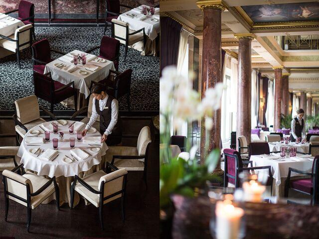 Фотосъемка сервировки столов в ресторане «Метрополь»