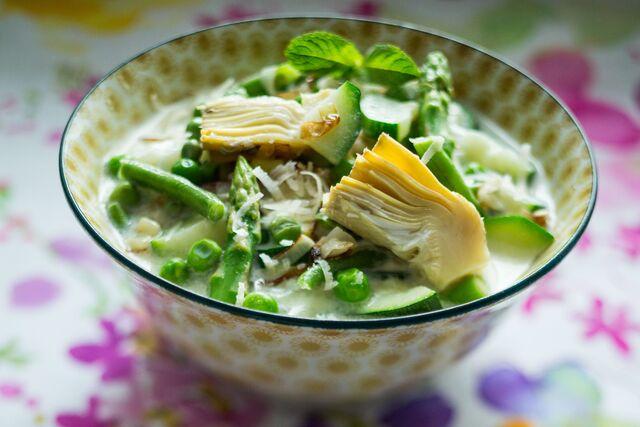 Приготовление, фотосъемка супа для журнала Хлеб Соль