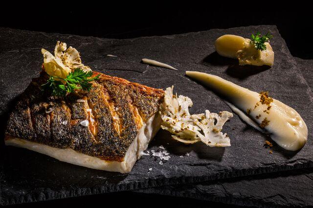 Фотосъемка морского черта в пончетте. Amarsi Restaurant.