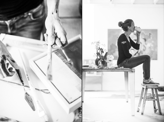 Портрет в интерьере студии Nathalie van Barneveld. Photographer Slava Pozdnyakov