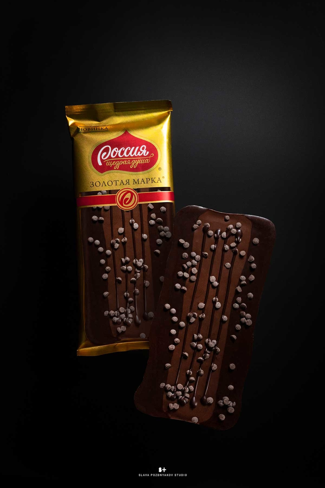 Фотосъемка шоколада Золотая Марка для упаковки. Nestle. Фуд-стилист, фотограф Слава Поздняков.