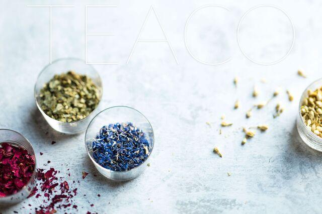 Постановочная фотосъемка чая для рекламы «Tea Co»