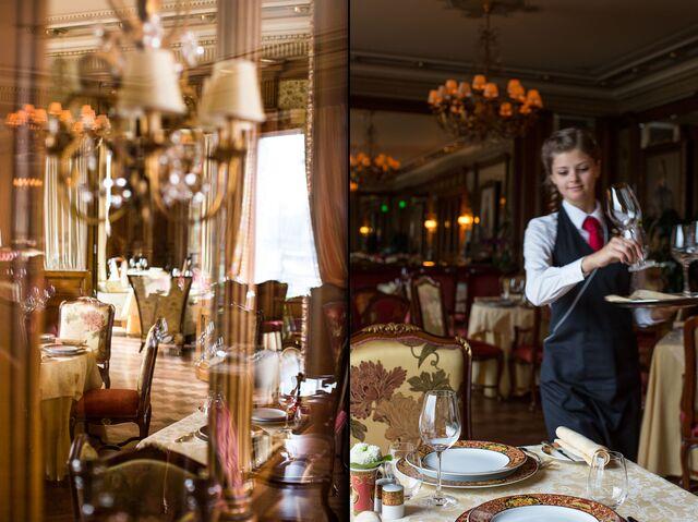 Постановочная фотосъемка интерьера «Пьяцца Росса» в гостинице «Националь»