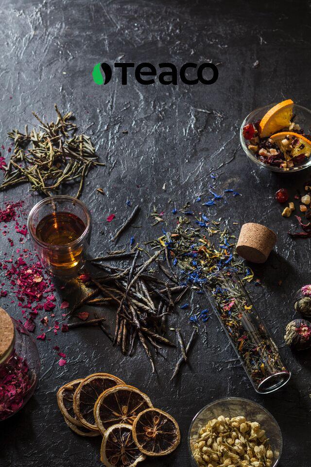 Фотосъемка рекламного постера с продукцией «Tea Co»