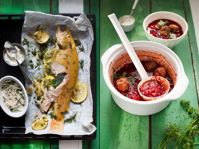 Приготовление, фотосъемка еды для журнала Хлеб Соль