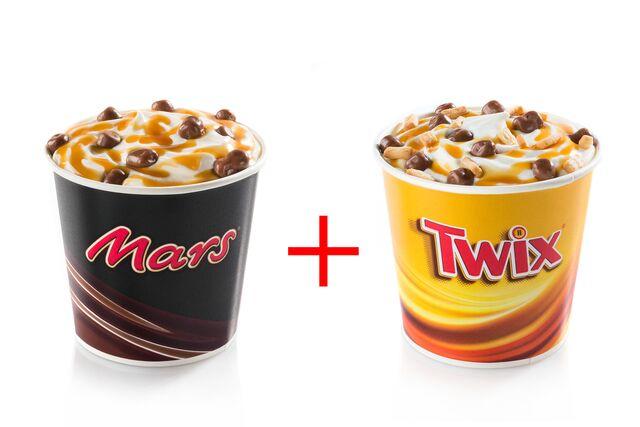 Рекламная фотосъемка мягкого мороженого Марс и Твикса для Burger King. Фуд-стайлинг, компоновка, фотосъемка. Фуд-стилист, фотограф Слава Поздняков.