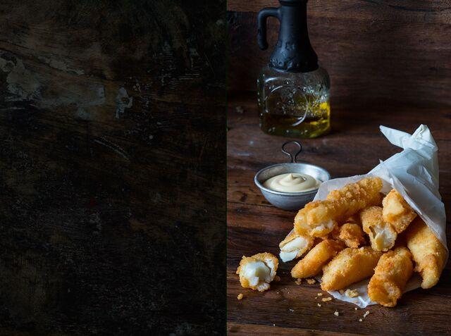 Рыбные палочки - приготовление и фотосъемка блюд для журнала Хлеб Соль