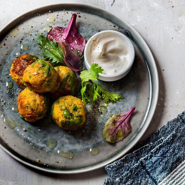 Рыбные шарики с зеленой фасолью.Приготовление, фуд-стайлинг, фотосъемка блюд по рецептам Bonduelle