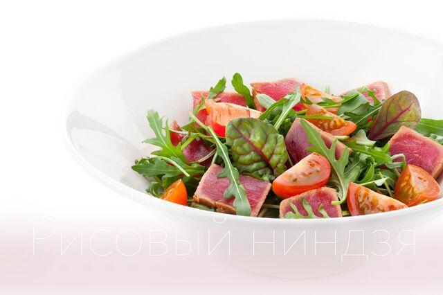 Фотосъемка салата с тунцом для меню ресторана Ваби саби