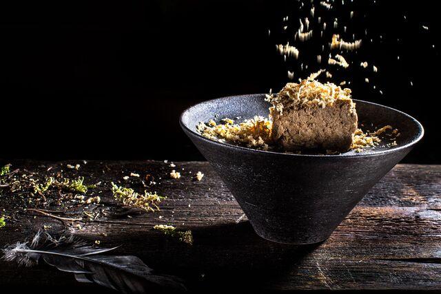 Паштет из дикой утки с хрустящим пеканом - Фотосъемка блюд для проекта «Сезон охоты». Фуд-стилист Слава Поздняков