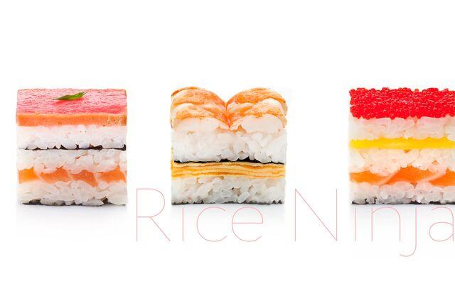 Фотосъемка суши для Рисового Ниндзя на белом фоне
