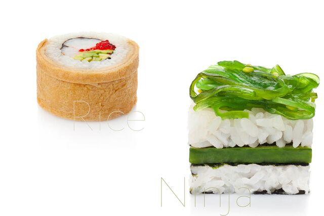 Фотосъемка суши и роллов для меню ресторана Рисовый Ниндзя
