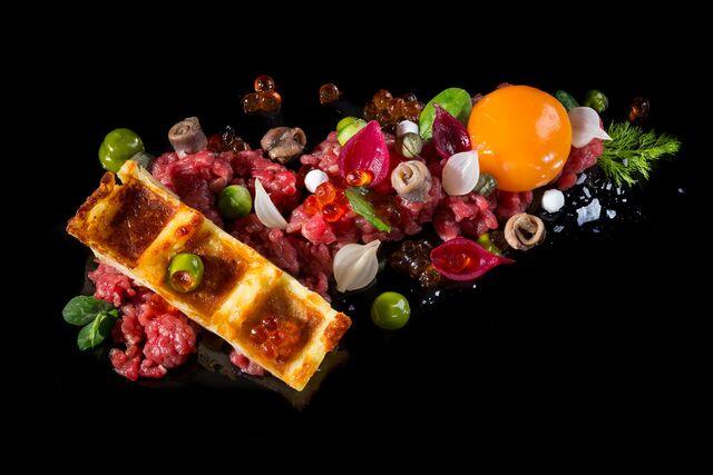 Фотосъемка Тар-Тар для меню ресторана Метрополь. Фуд-стилист и фотограф Слава Поздняков