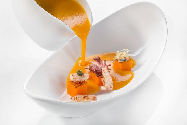 Фотосъемка тыквенного крем супа для ресторана АМАРСИ