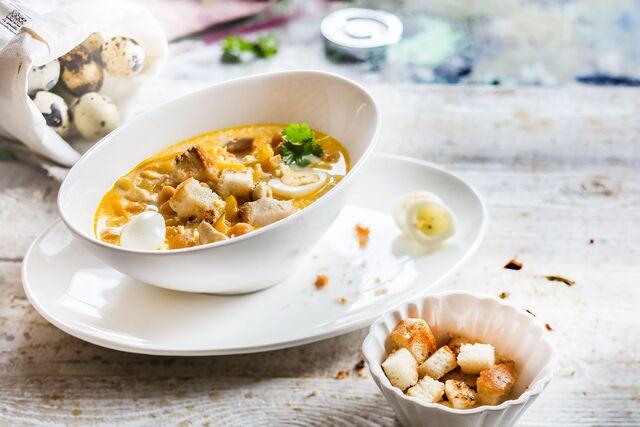 Тыквенный суп. Приготовление, фуд-стайлинг, фотосъемка блюд по рецептам Bonduelle