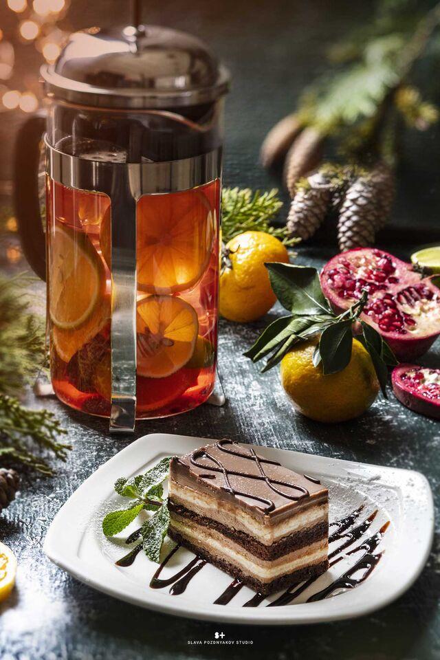 Фотосъёмка десертов. Фотосъёмка чая. Фотосъемка для меню. Фотосъёмка композиций блюд. Фуд-стилист, фотограф Слава Поздняков.