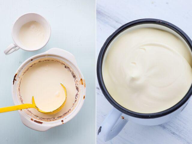 Приготовление топленого молока, фотосъемка для журнала