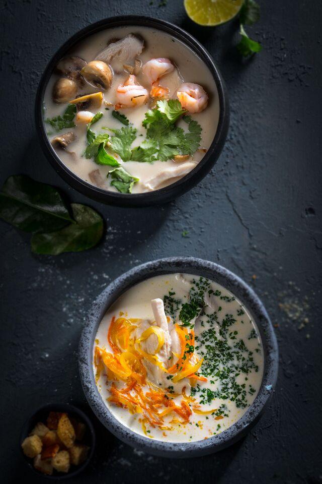 Фотосъемка композиции супов. Фуд-стилист, фотограф Слава Поздняков.