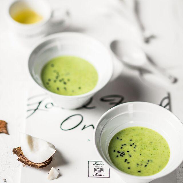 Вегетарианский суп с кокосом.Приготовление, фуд-стайлинг, фотосъемка блюд по рецептам Bonduelle
