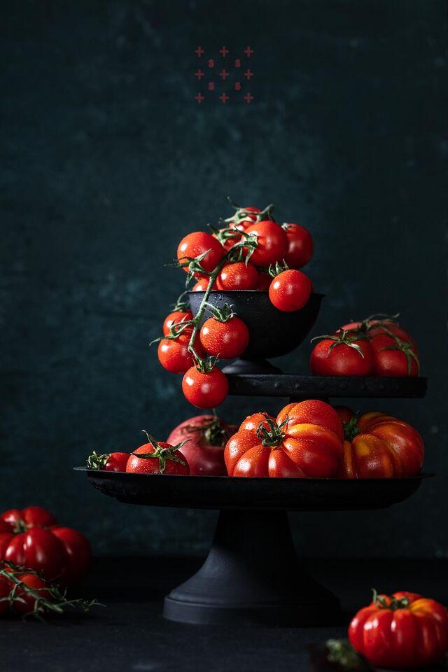 Фотосъемка помидор черри. Фуд-стилист, фотограф Слава Поздняков.