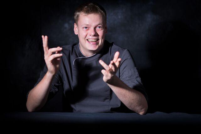 Фотосъемка портрета шеф-повара Виталия Ковалева. Фотограф Слава Поздняков