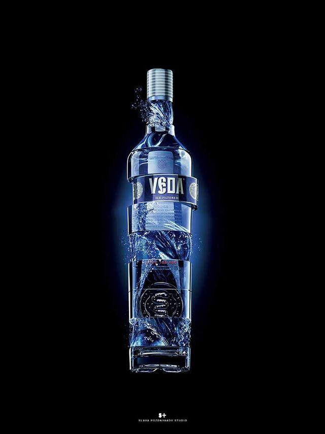 Фотосъемка алкогольных напитков. Фотосъемка водки ВЕДА. Фуд-стайлинг, постановка света, фотосъемка водки. Фотограф Слава Поздняков.
