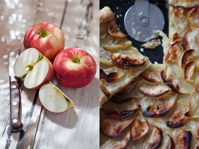 Яблочный пирог - Фотосъемка десерта для журнала Хлеб Соль