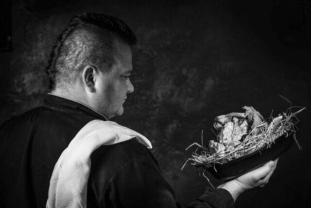 Фотосъемка портрета  шеф-повара Юрия Башмакова