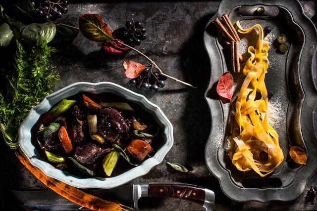 Фотосъемка запеченых овощей для охотничьего меню «Сезон охоты». Фотограф и фуд-стилист Слава Поздняков