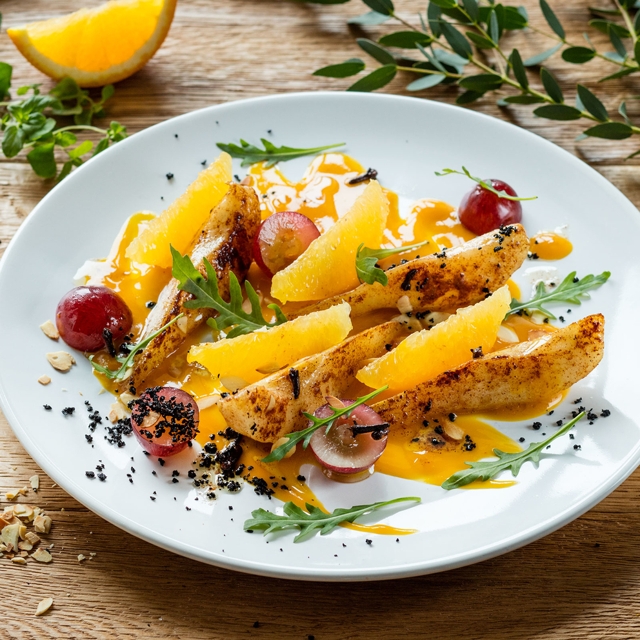 Разработка подачи блюд картофель с апельсином. Фуд-стилист и фотограф Слава Поздняков | Slava Pozdnyakov